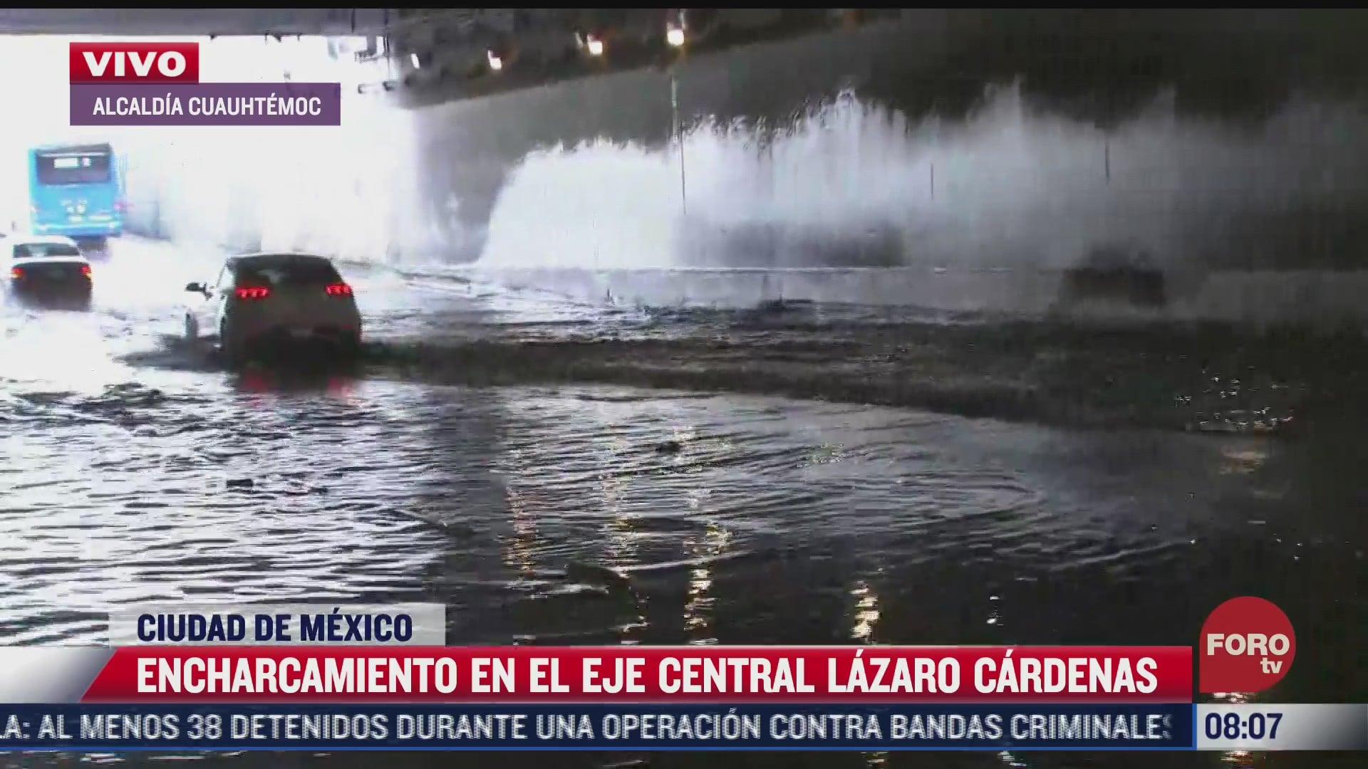 encharcamientos afectan calles y avenidas de cdmx este domingo 13 de junio