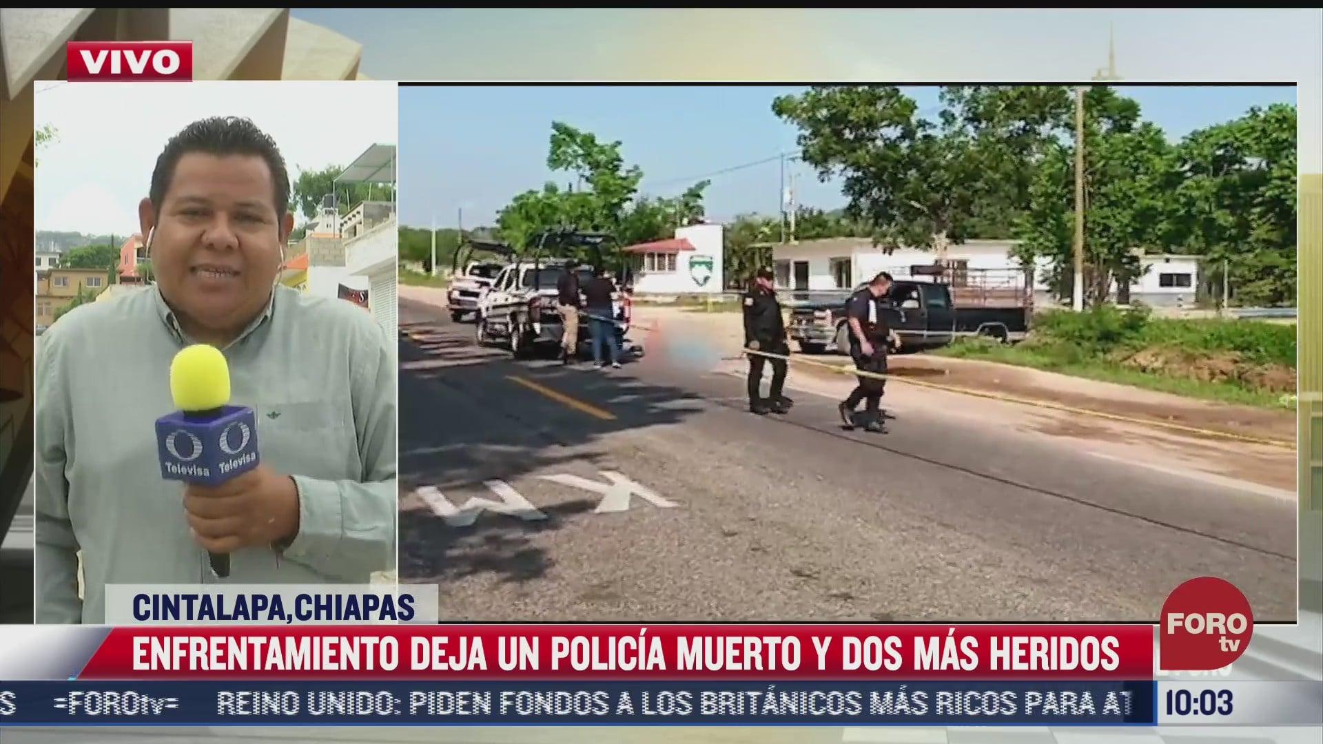 enfrentamiento entre policias y traficantes de indocumentados deja un uniformado muerto