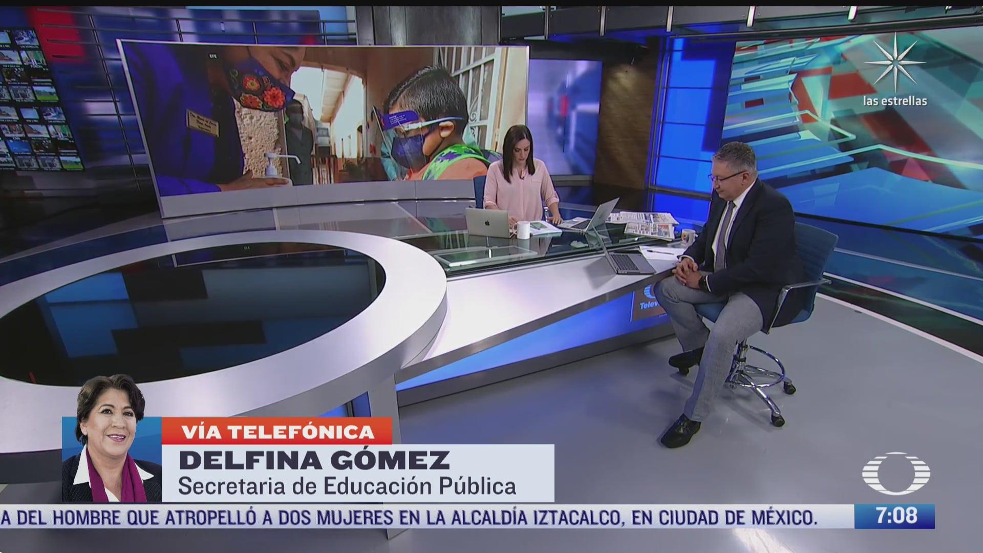 entrevista con delfina gomez secretaria de educacion publica para despierta