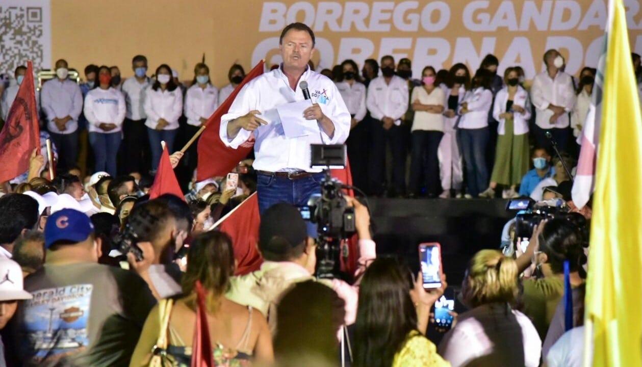 Ernesto 'Borrego' Gándara, candidato por la Alianza 'Va por Sonora'