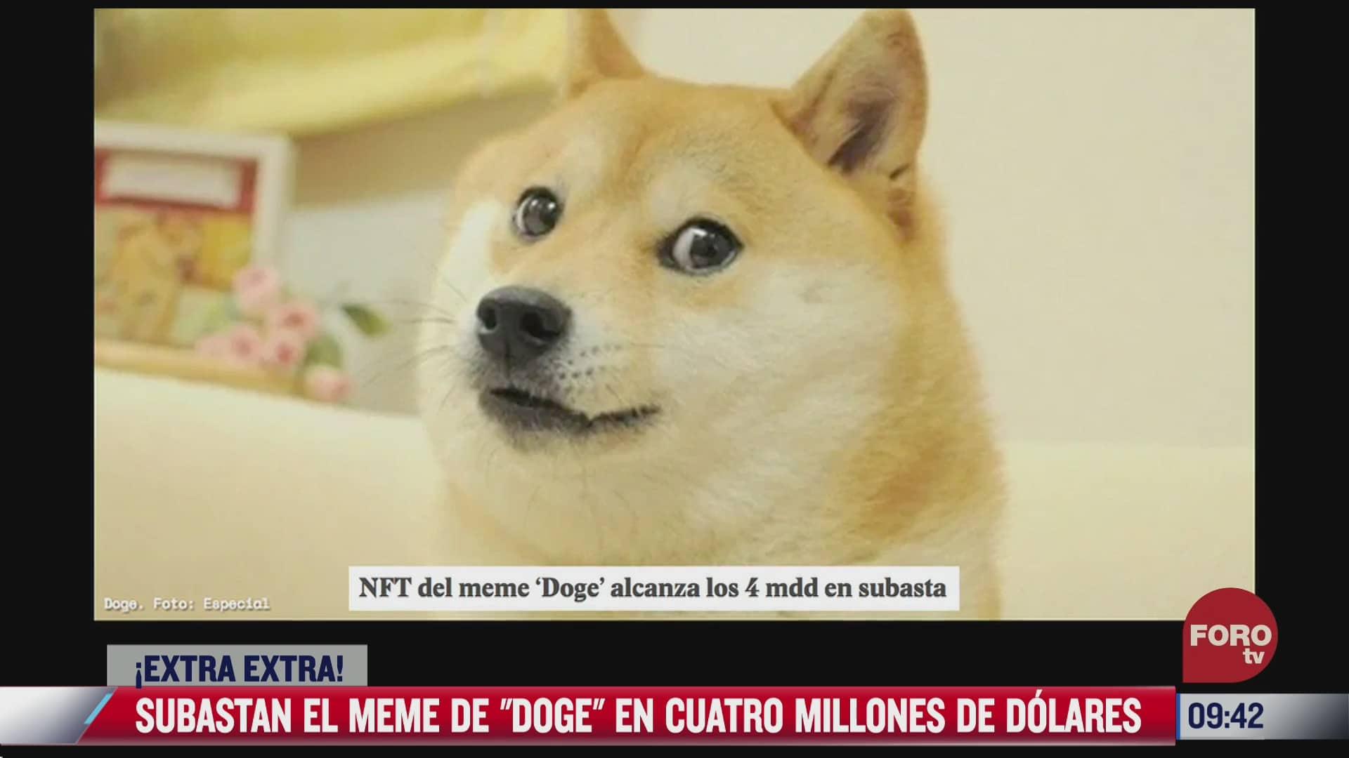 extra extra subastan el meme de doge en cuatro millones de dolares