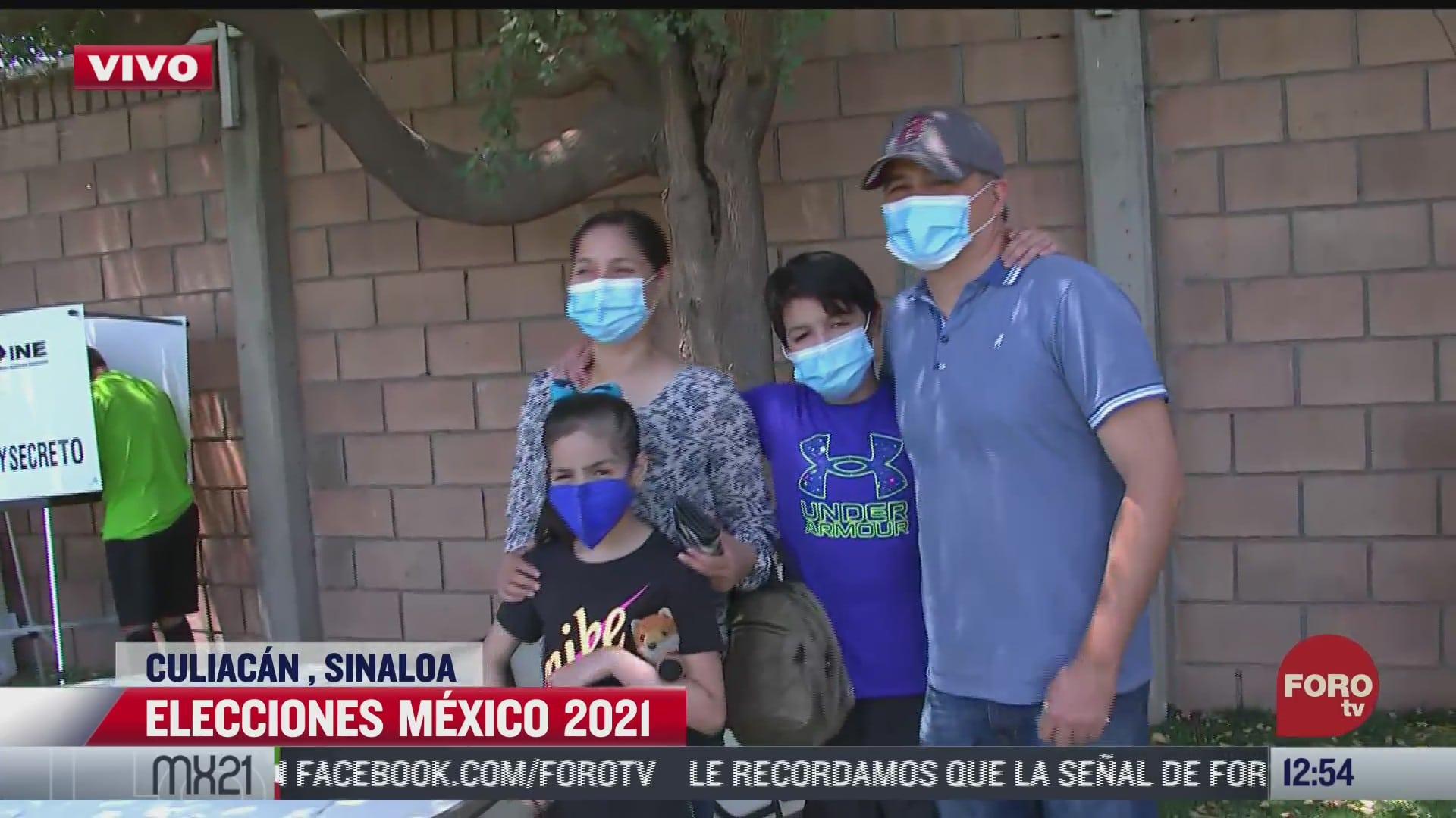 familias acuden a votar en estas elecciones 2021 en culiacan sinaloa