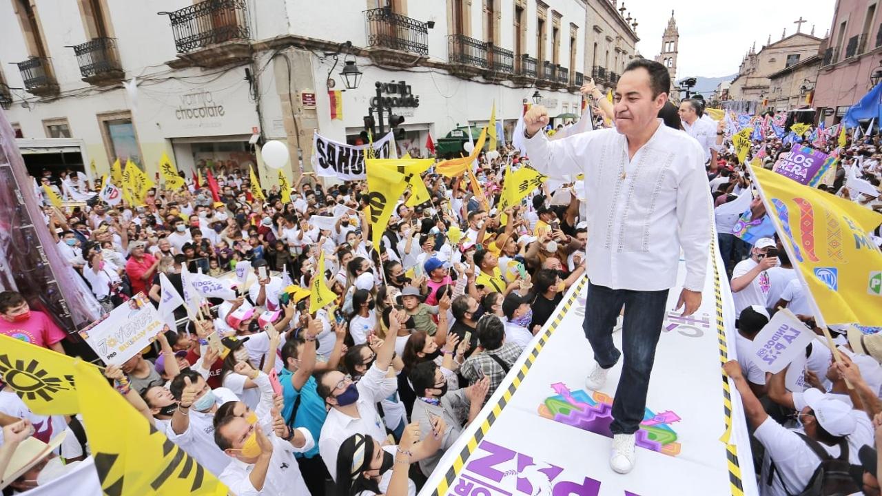 Carlos Herrera cierra campaña electoral en Michoacán