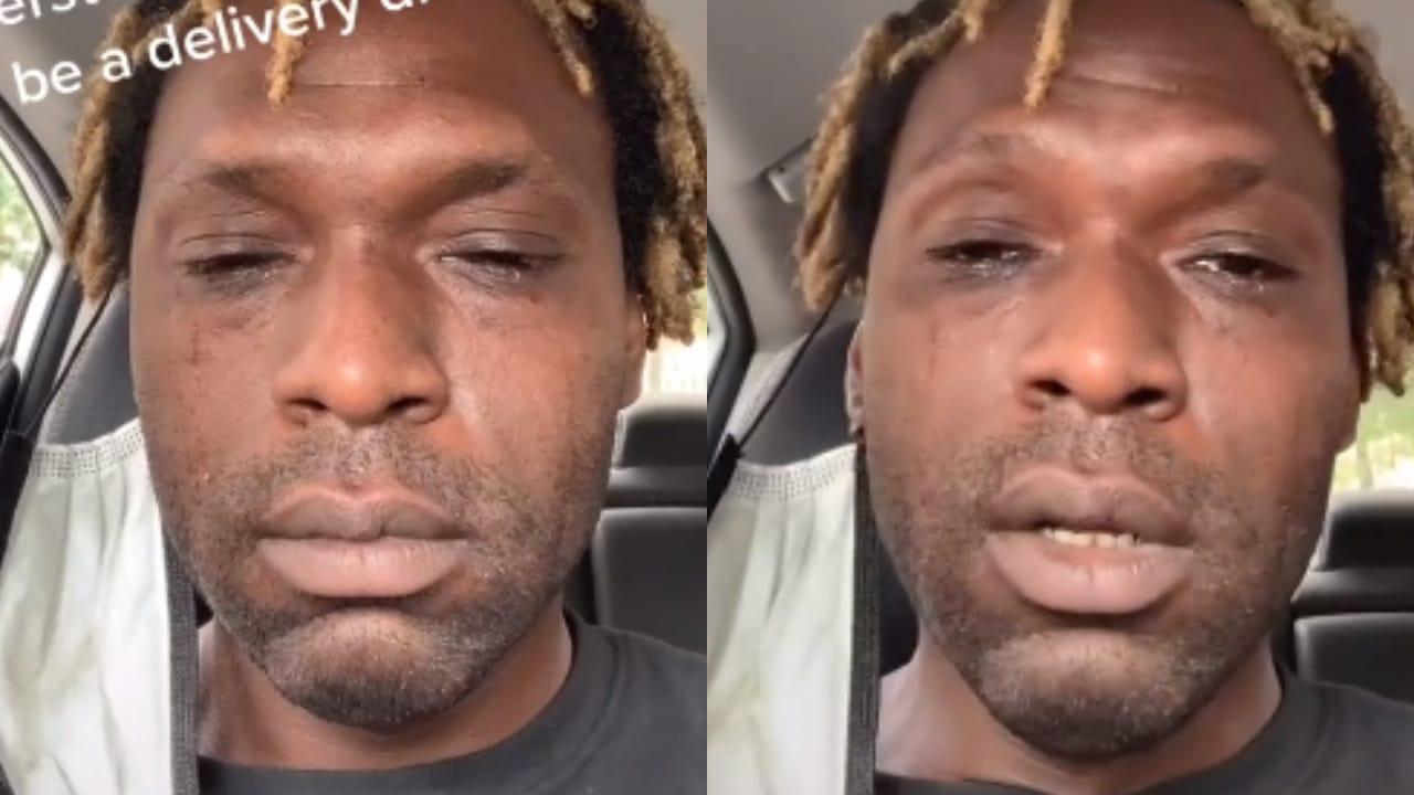 Repartidor llora al conducir una hora; recibió poca propina