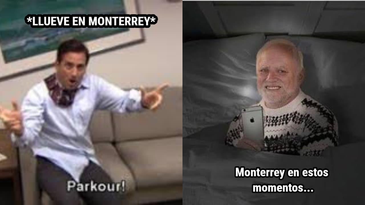 Los mejores memes de la tormenta eléctrica en Monterrey