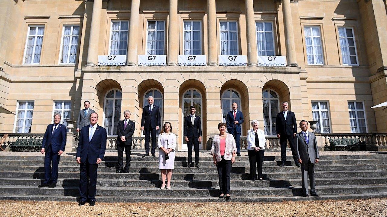 Reunión del G7, celebrada en una ornamentada mansión del siglo 19, cerca del Palacio de Buckingham en el centro de Londres