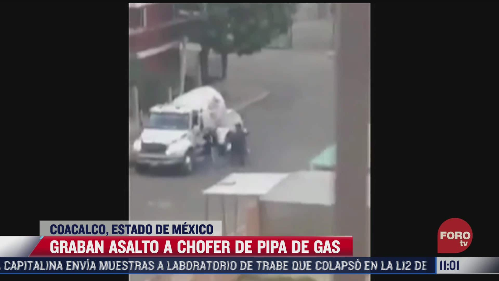graban asalto a chofer de pipa de gas en coacalco
