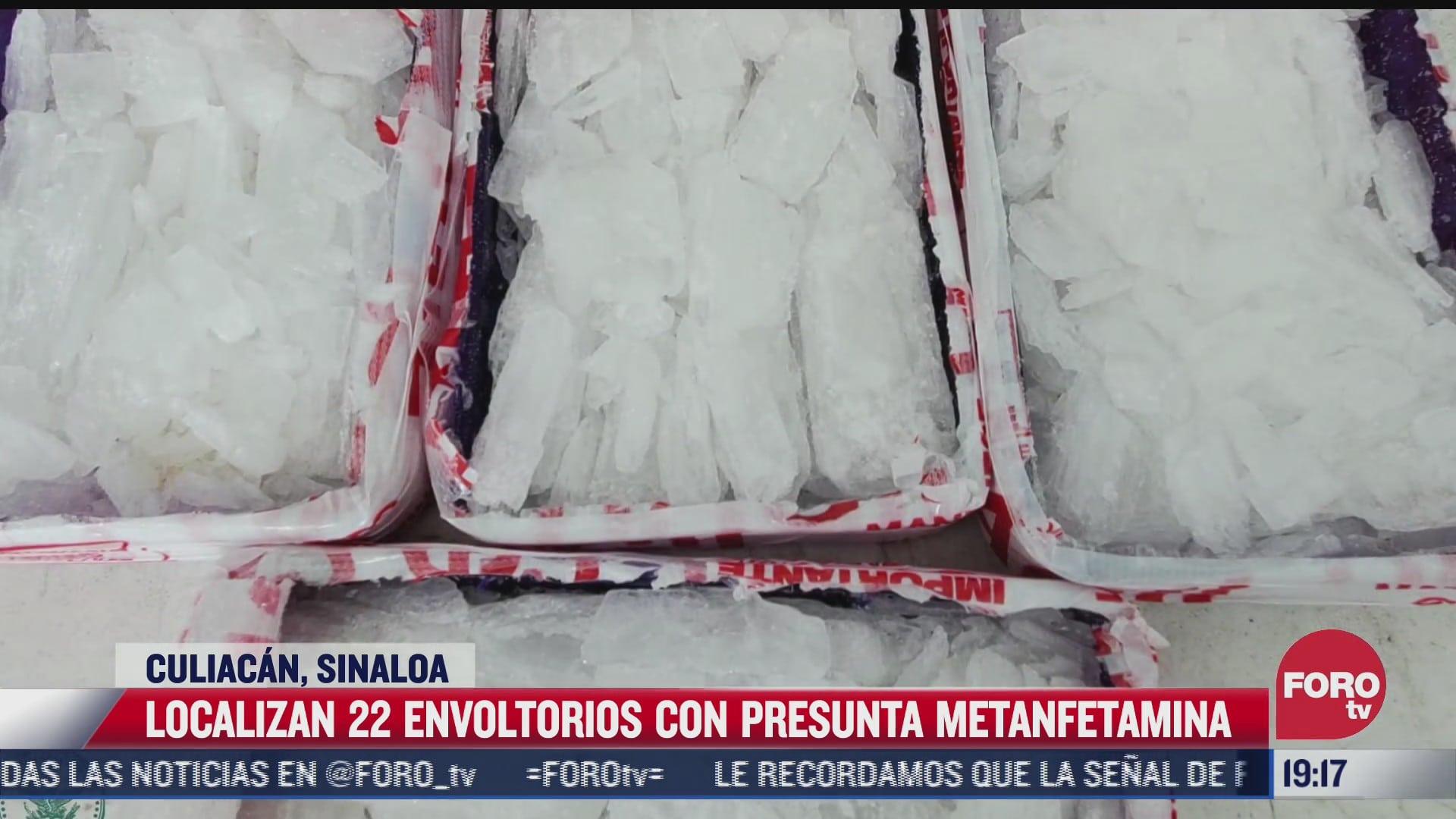 hallan 22 envoltorios de metanfetamina dentro de futbolito