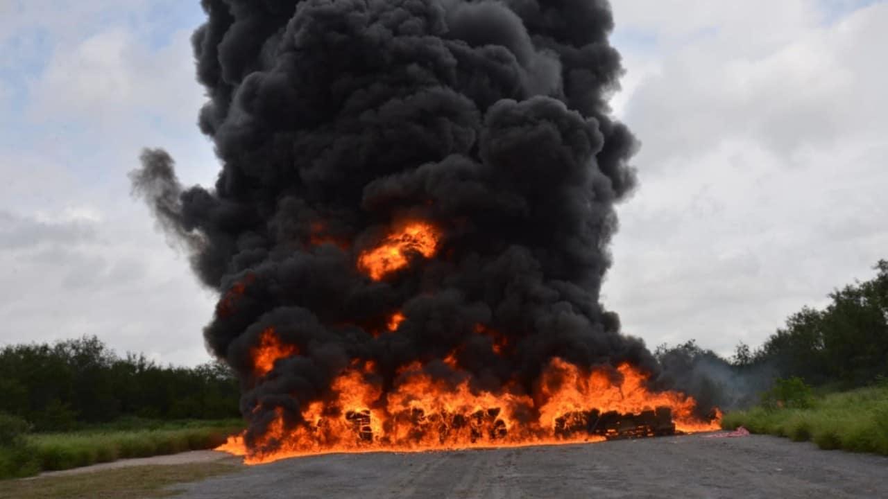 Fiscalía General de la República realizó incineración de drogas (FGR)