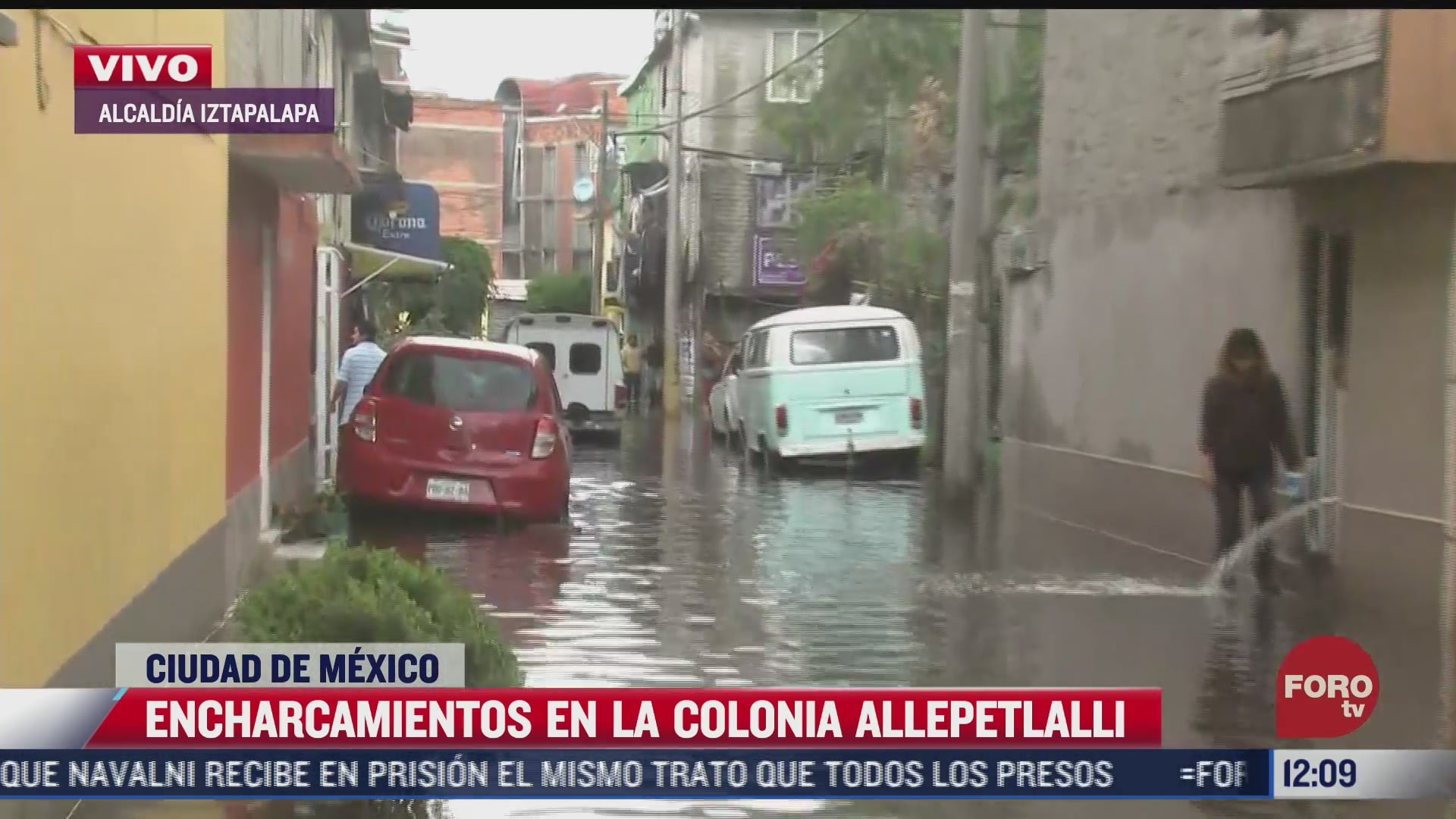 intensa lluvia provoca inundaciones en viviendas de la alcaldia iztapalapa