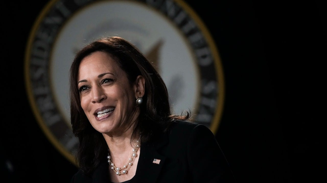 La vicepresidenta de EEUU, Kamala Harris (Getty Images)