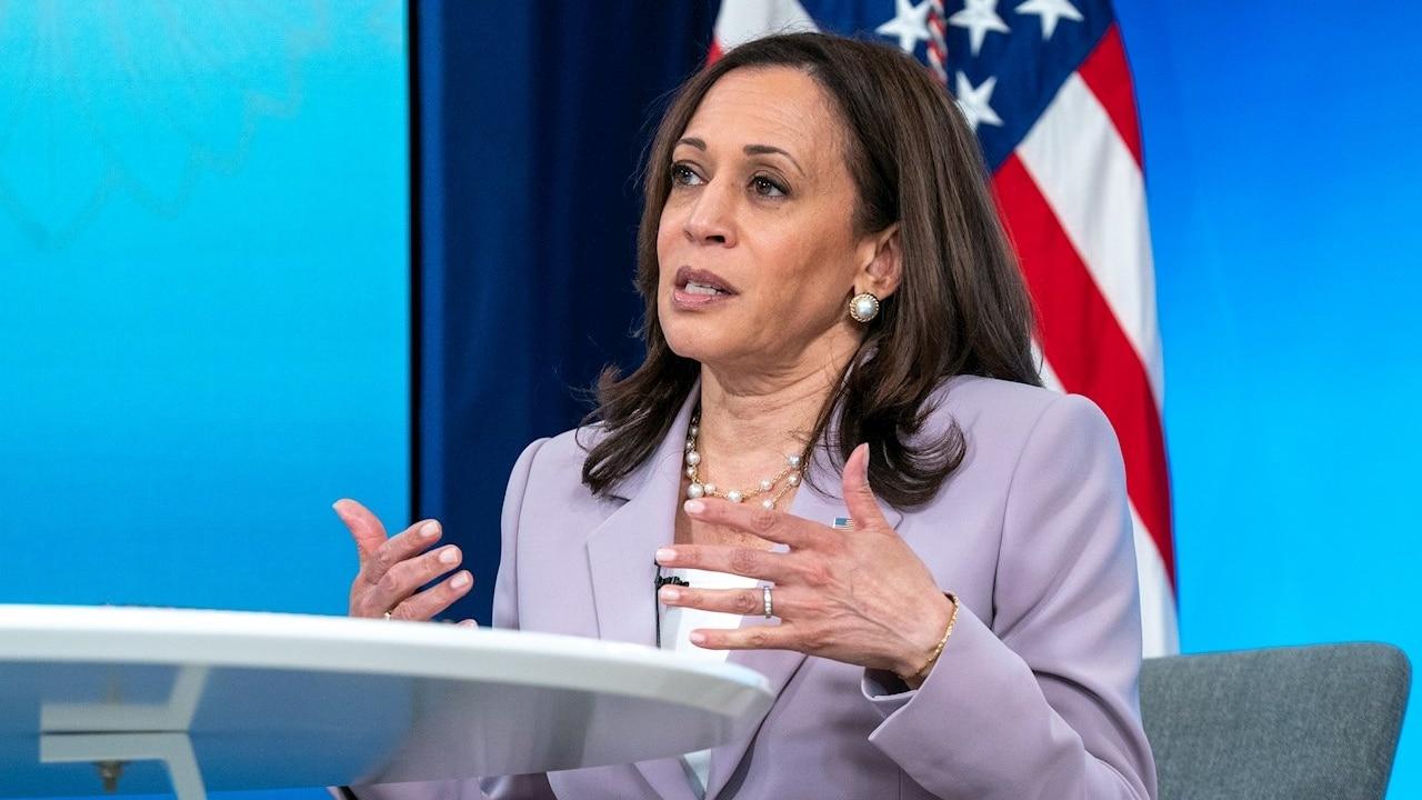 Fotografía de la vicepresidenta de Estados Unidos, Kamala Harris