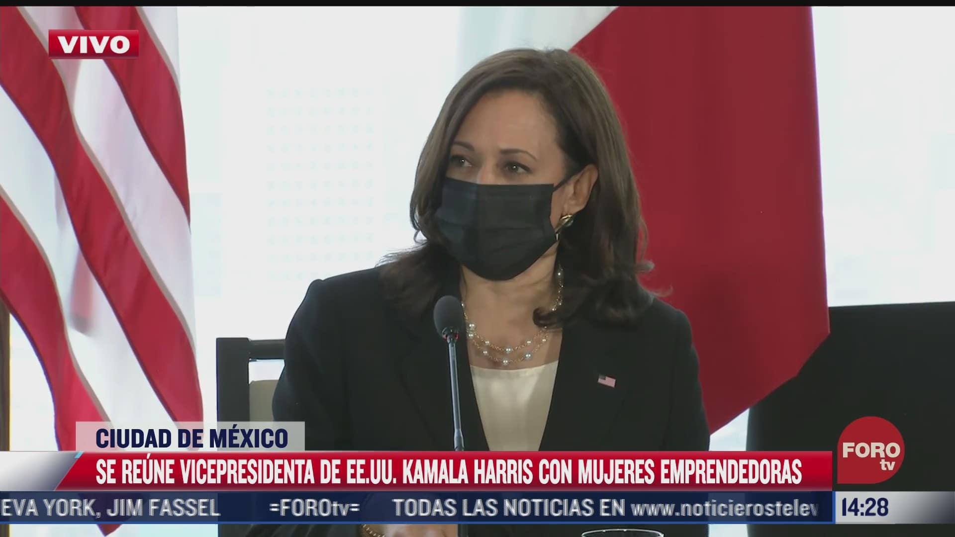 kamala harris se reune con mujeres emprendedoras mexicanas