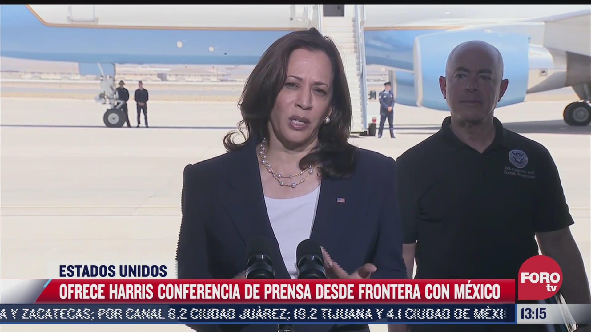 kamala harris supervisa puerto de entrada en frontera con mexico