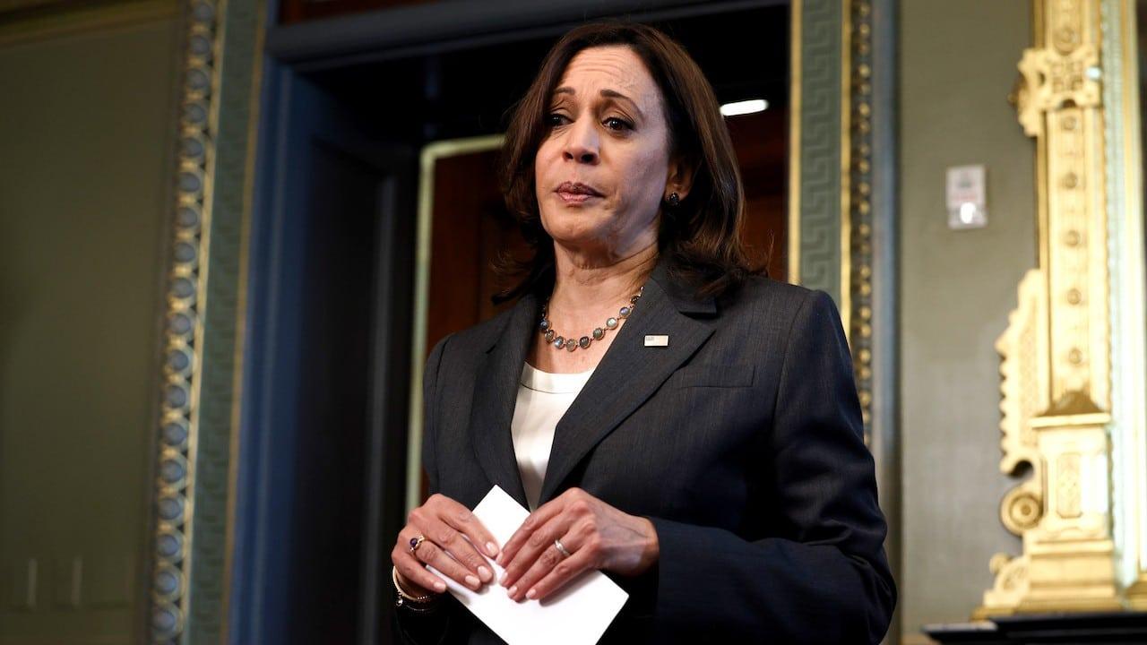 La vicepresidenta estadounidense, Kamala Harris (Getty Images)