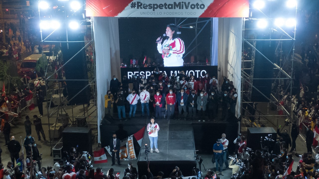 Keiko Fujimori candidata presidencial en Perú (Getty Images)