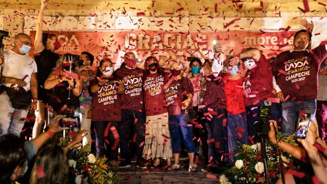 """Layda Sansores, de """"Juntos Hacemos Historia"""", aventaja en Campeche"""