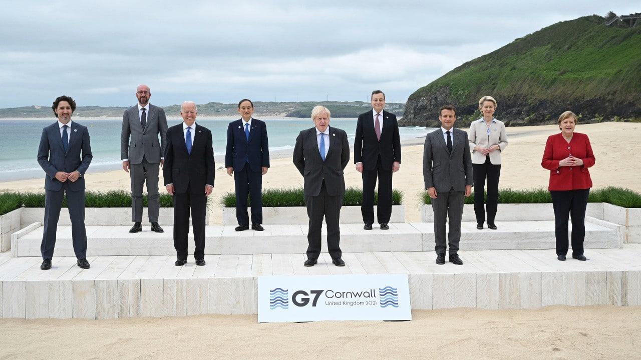 Líderes del G7