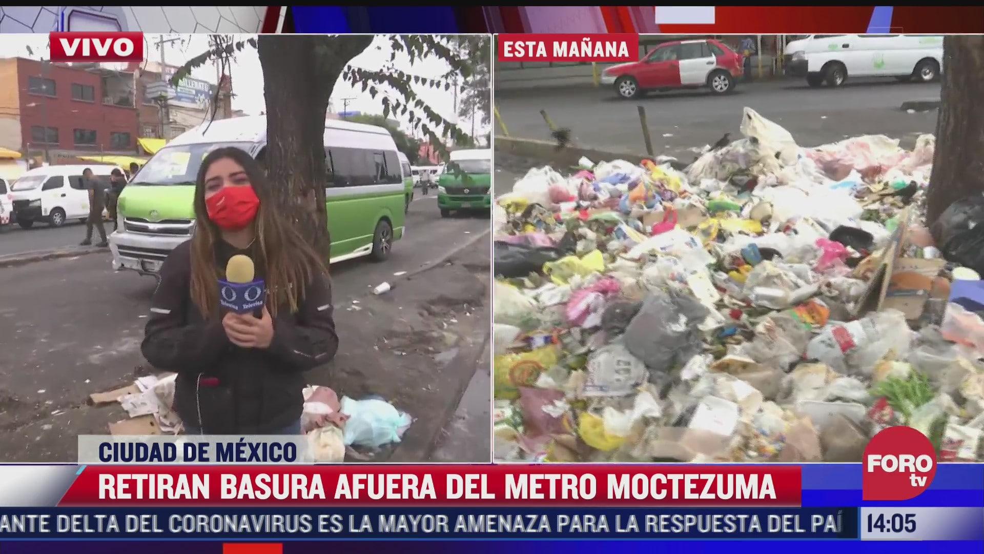 limpian basura afuera del metro moctezuma pero ciudadanos la vuelven a tirar