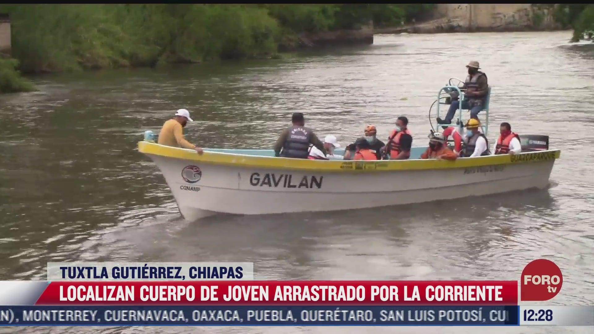 localizan cuerpo de joven arrastrado por corriente de rio en tuxtla gutierrez chiapas