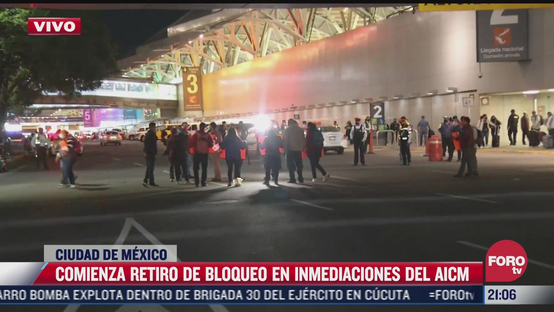manifestantes acuerdan retirar bloqueo en aeropuerto cdmx