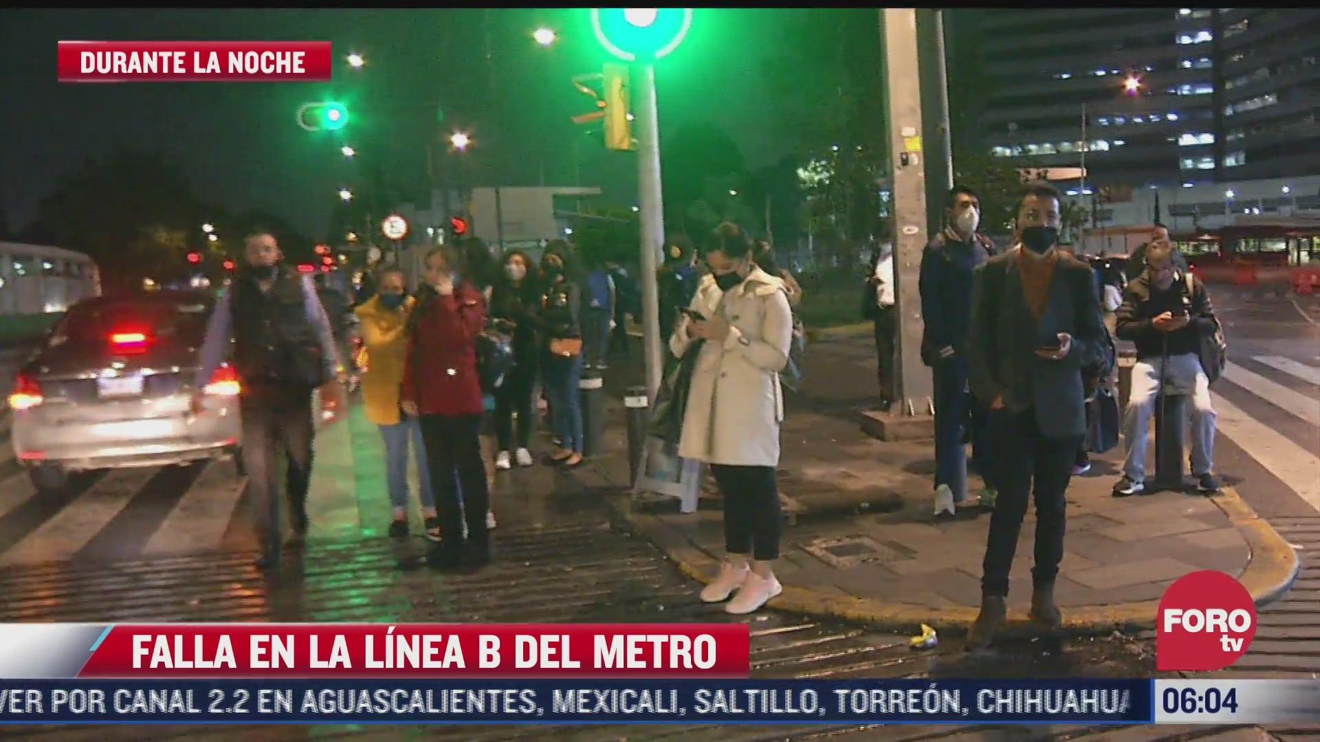 miles de usuarios de la linea b del metro se vieron afectados tras falla