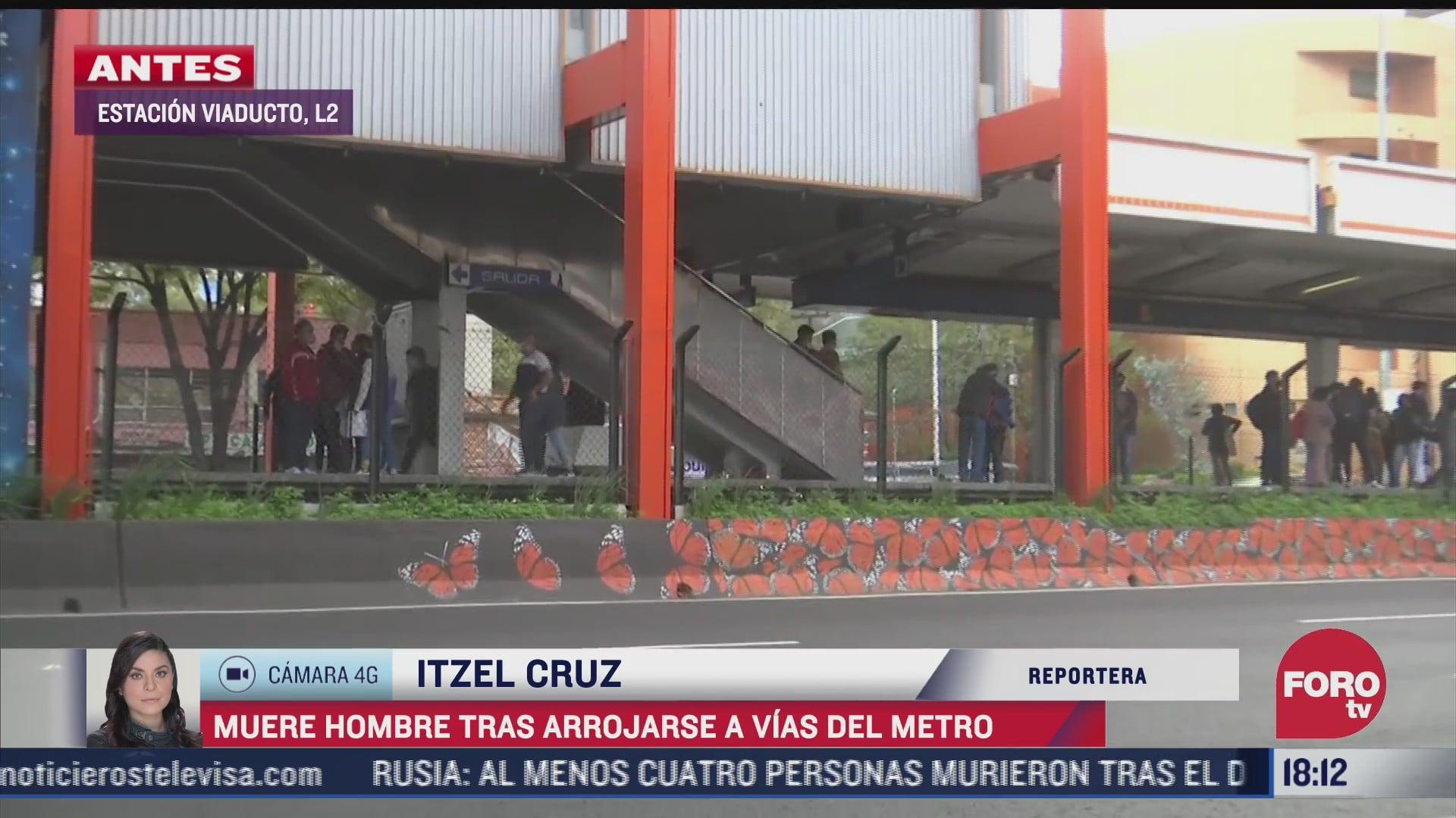 muere hombre tras arrojarse a las vias del metro