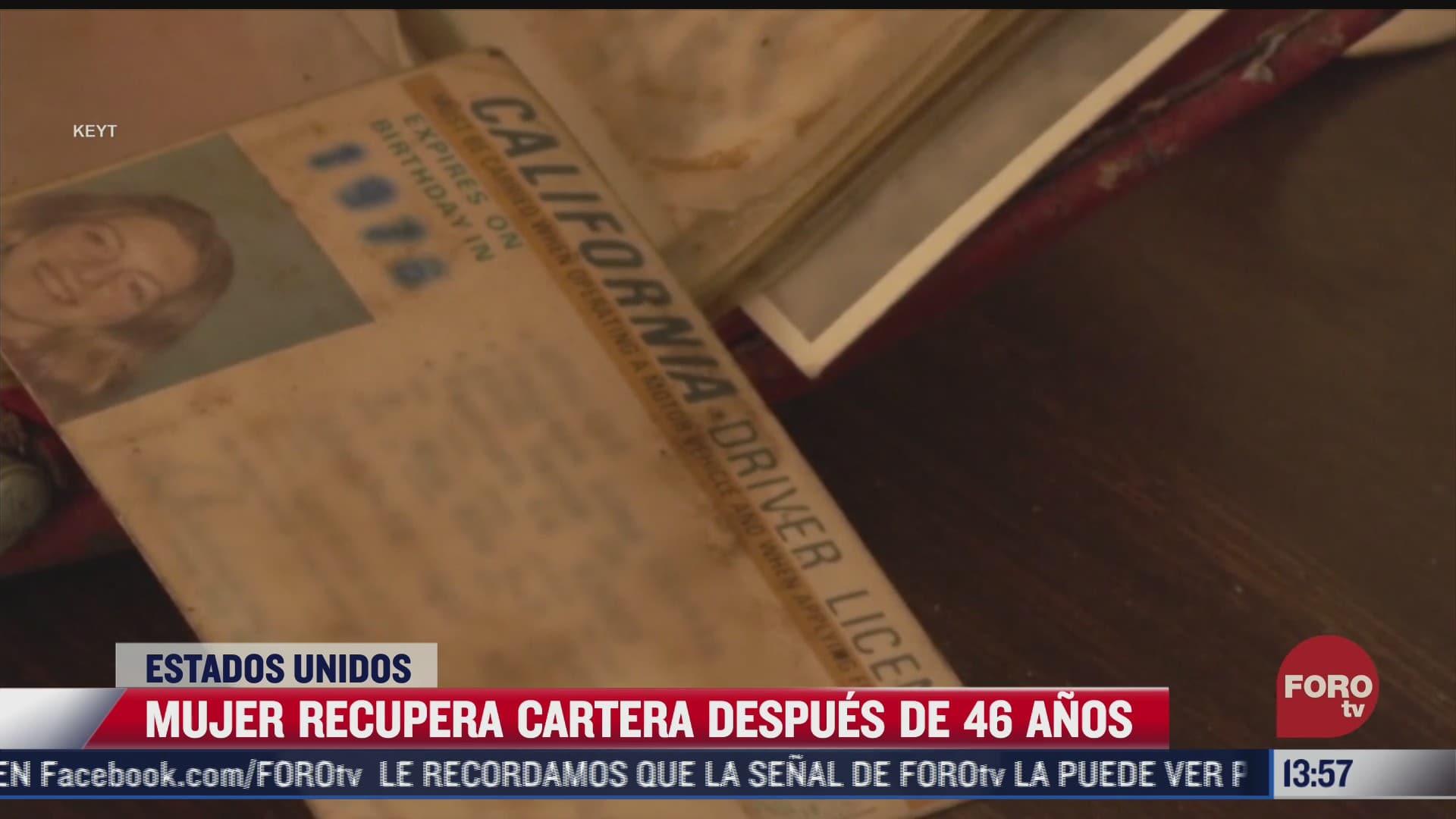 mujer recupera su cartera despues de 46 anos en california eeuu