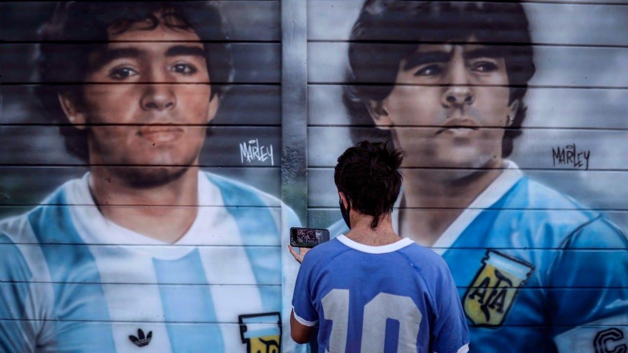 Mural de Diego Armando Maradona en Argentina (EFE)