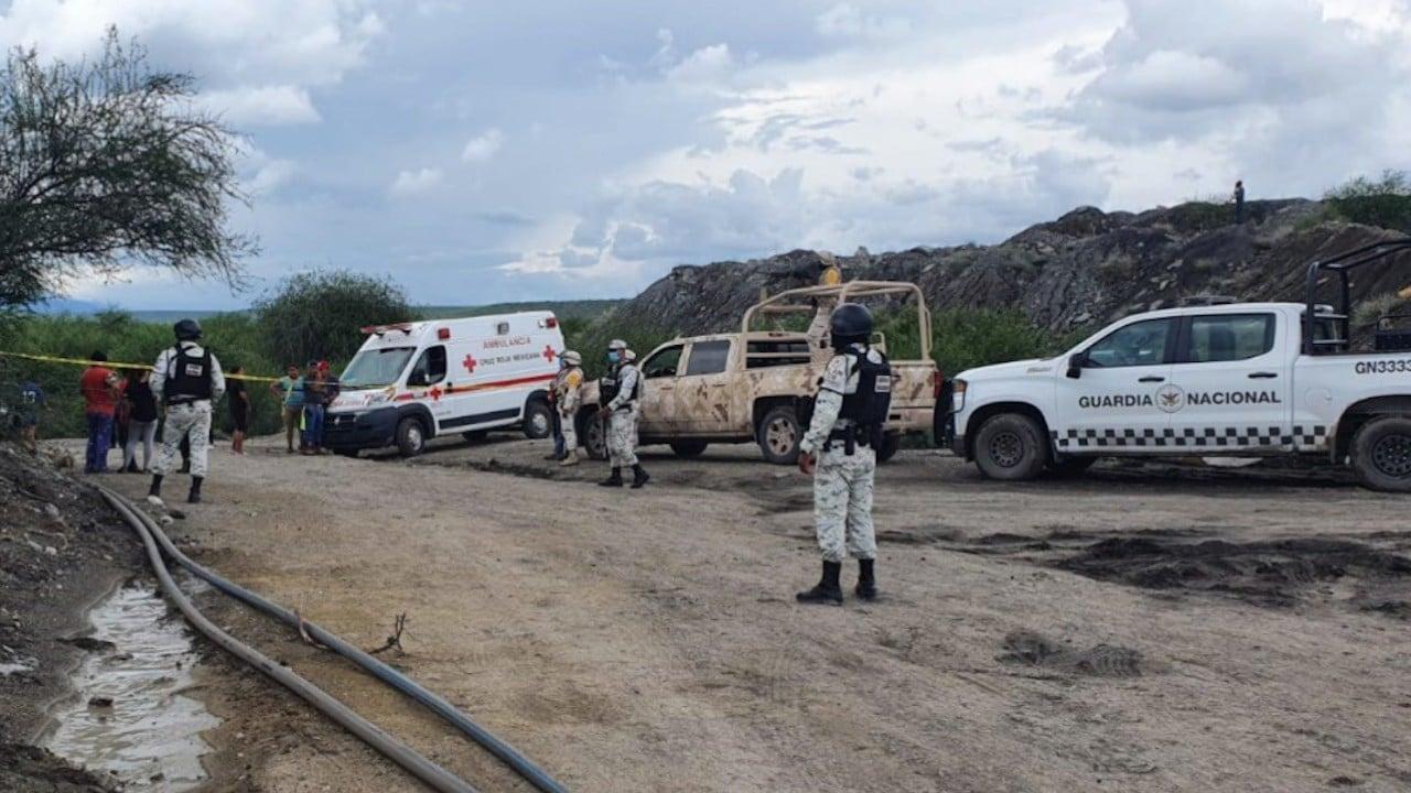 Labores de rescate en mina de Múzquiz, Coahuila (Guardia Nacional)