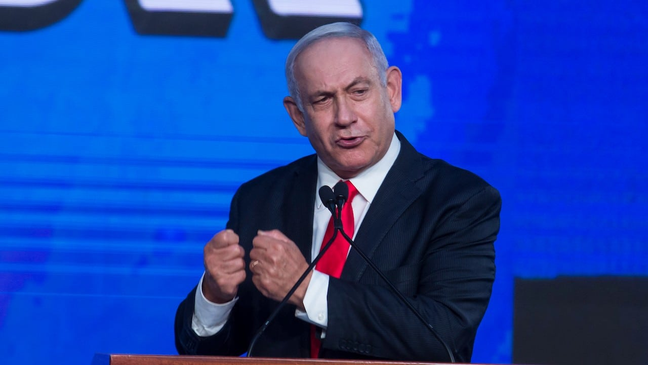 El primer ministro de Israel, Benjamín Netanyahu (Getty Images)