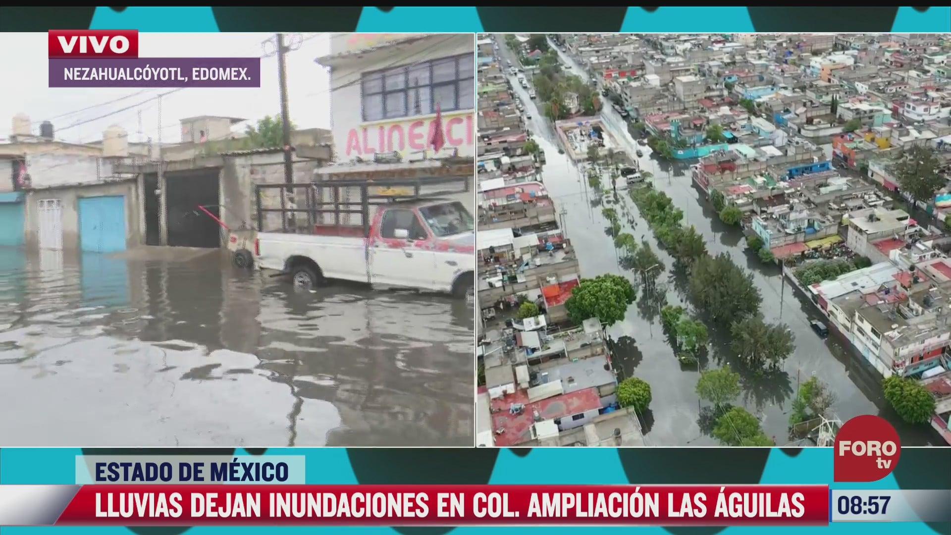 nezahualcoyotl amanece inundado tras fuertes lluvias