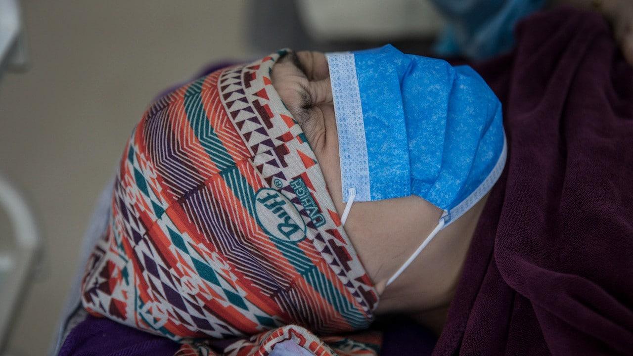 Un paciente con COVID-19 (Getty Images)