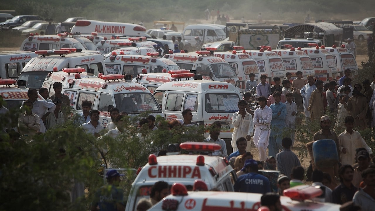 Ambulancias se aglomeran para atender heridos (Getty Images, archivo)