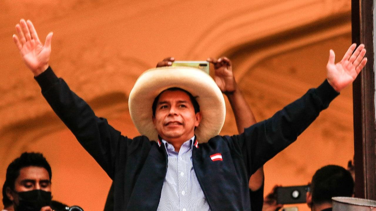 Pedro Castillo, candidato presidencial de Perú (Getty Images)