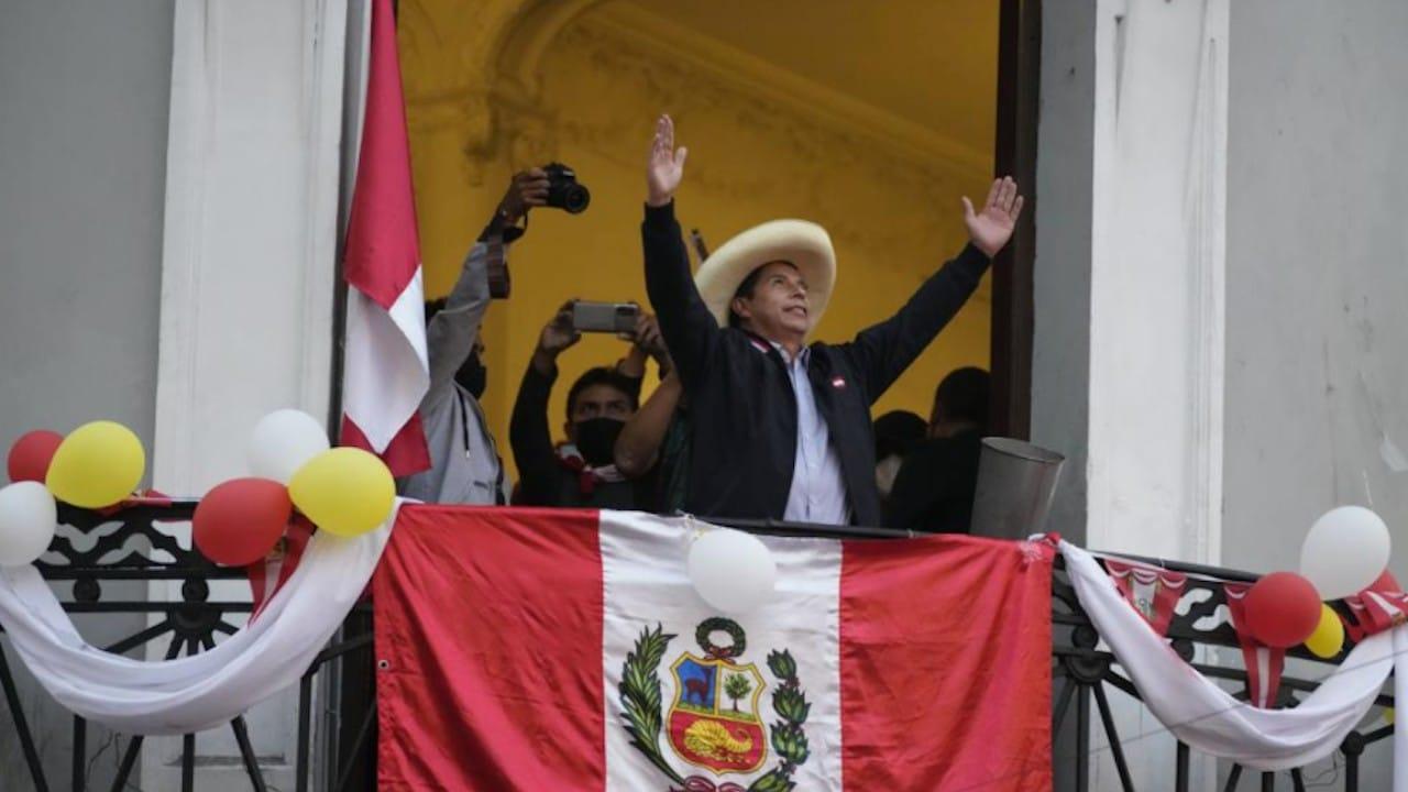 El candidato Pedro Castillo terminó primero con 100% de las actas procesadas de la elección presidencial en Perú (AP)