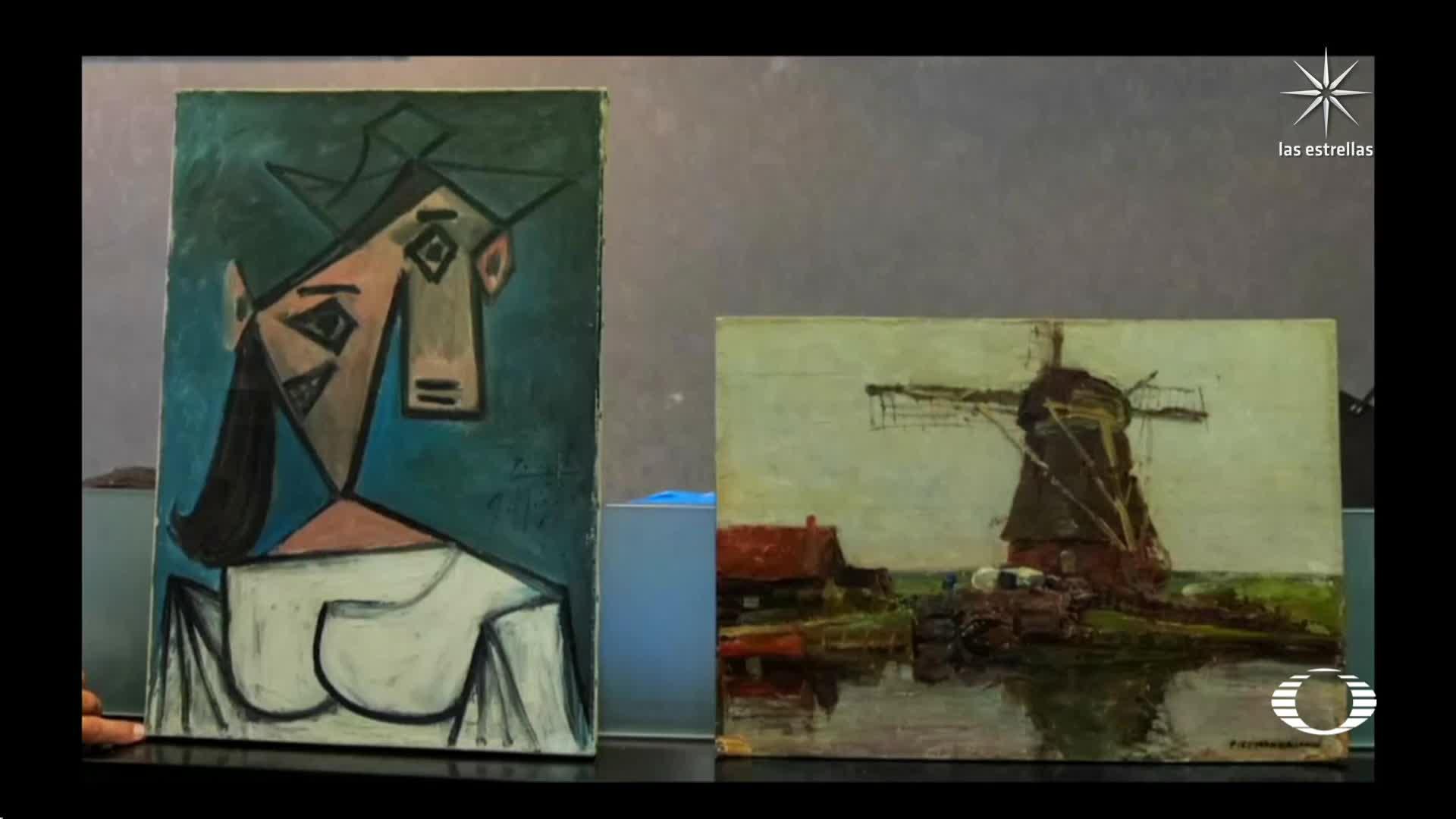 Policía recupera pinturas de Picasso y Mondrian