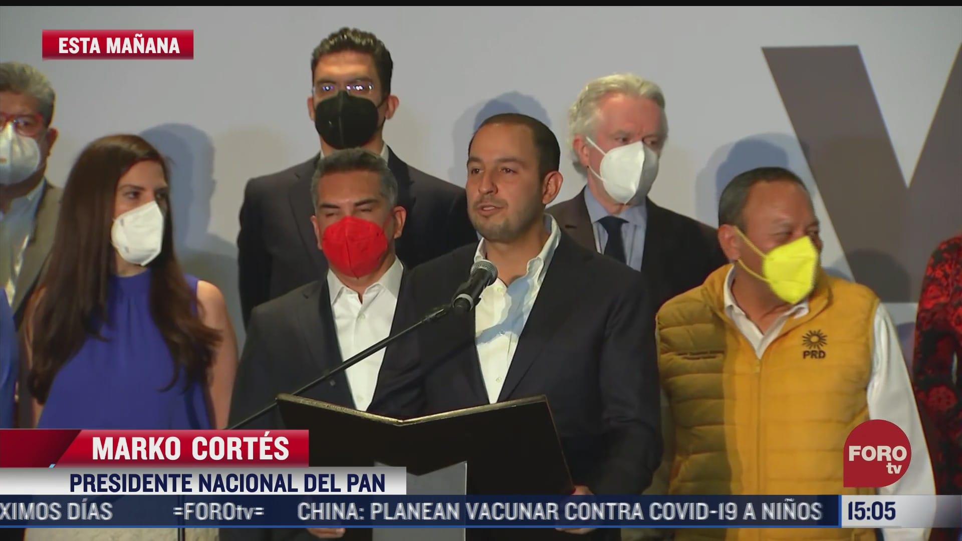 pri pan y prd celebran resultados de coalicion va por mexico