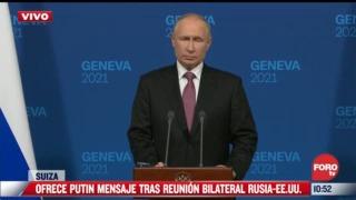 putin ofrece conferencia de prensa tras encuentro con biden