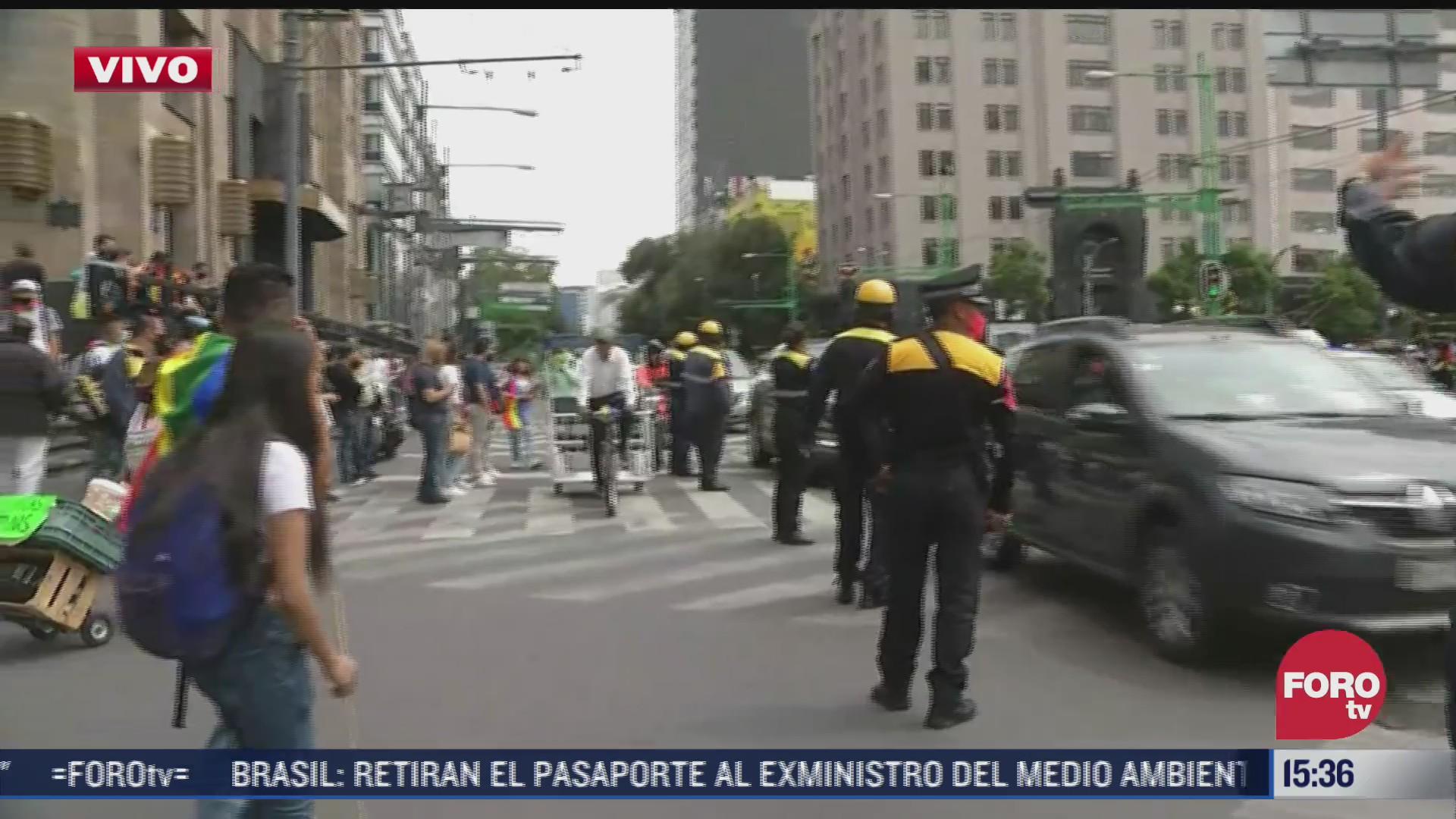 reabren circulacion vial tras paso de marcha del orgullo lgbttti