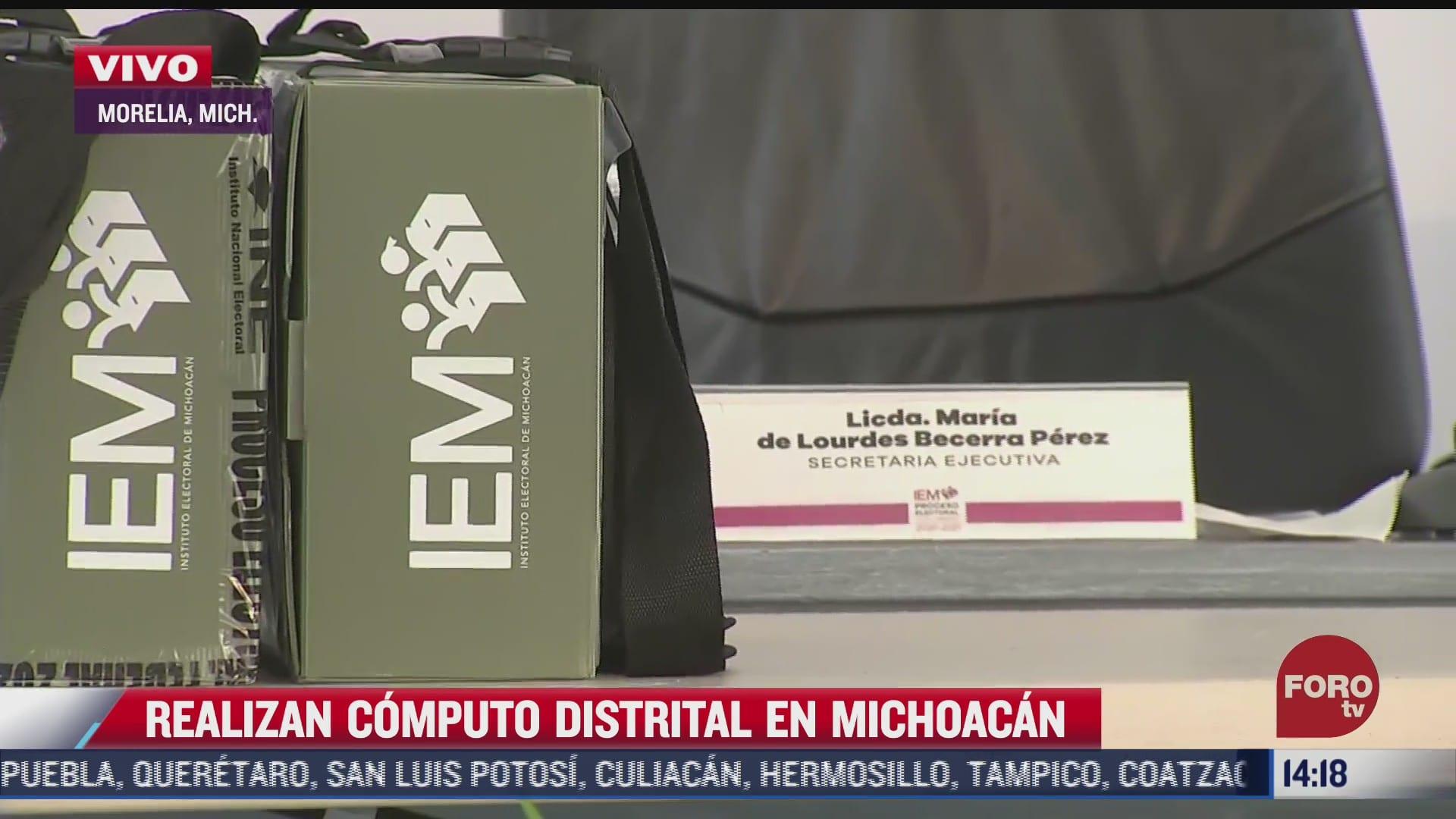 realizan computo distrital en michoacan