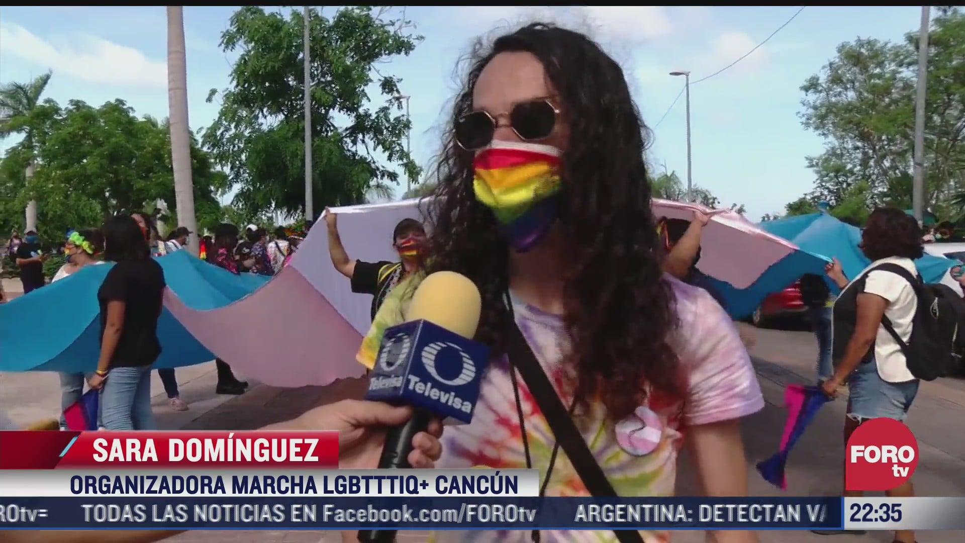 realizan la edicion 17 de la marcha del orgullo gay en cancun