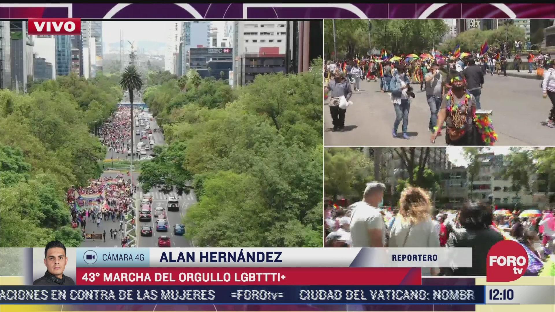 realizan marcha del orgullo gay 2021 en la ciudad de mexico