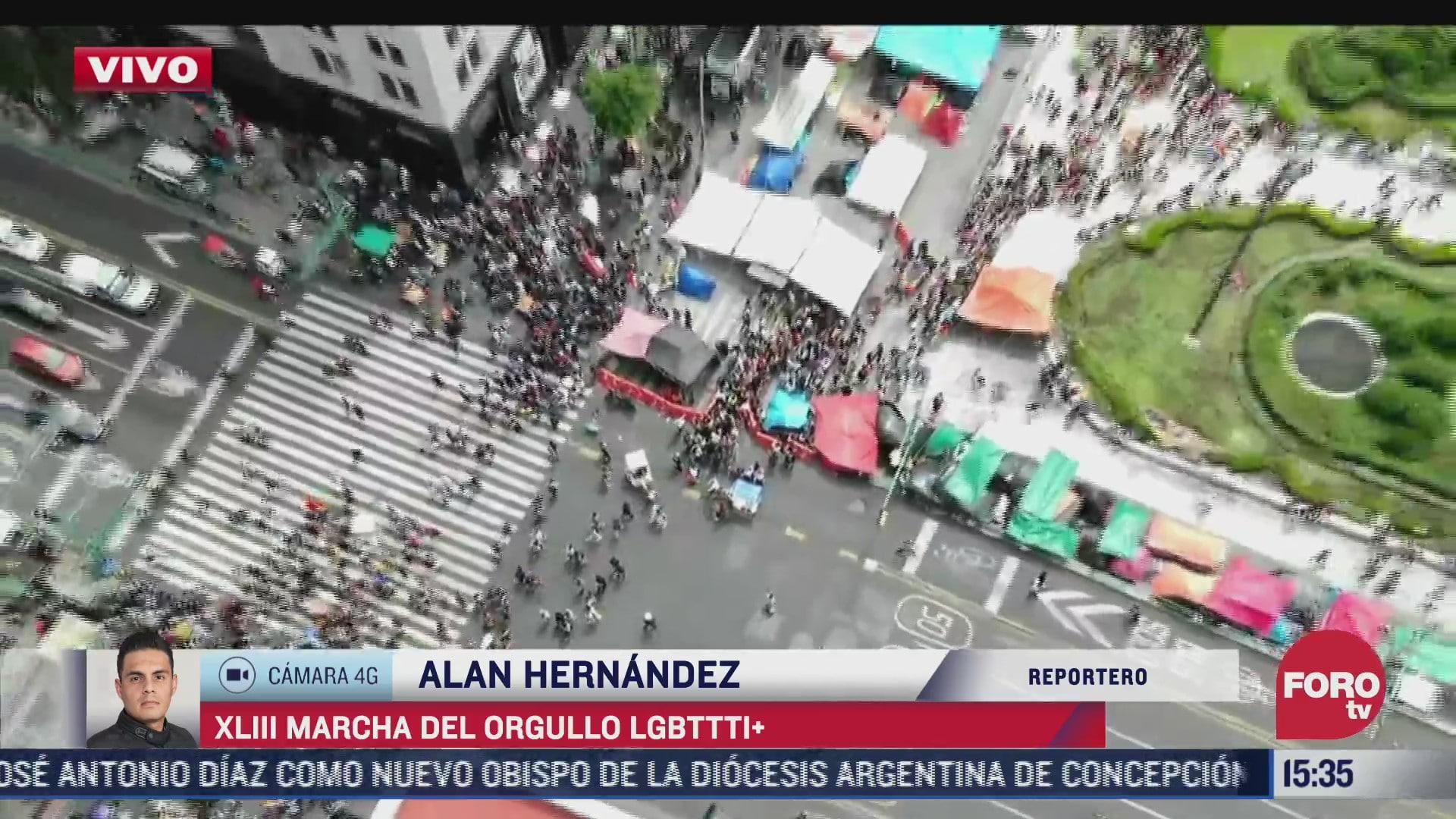 realizan marcha del orgullo gay 2021 en la ciudad de mexico bloque