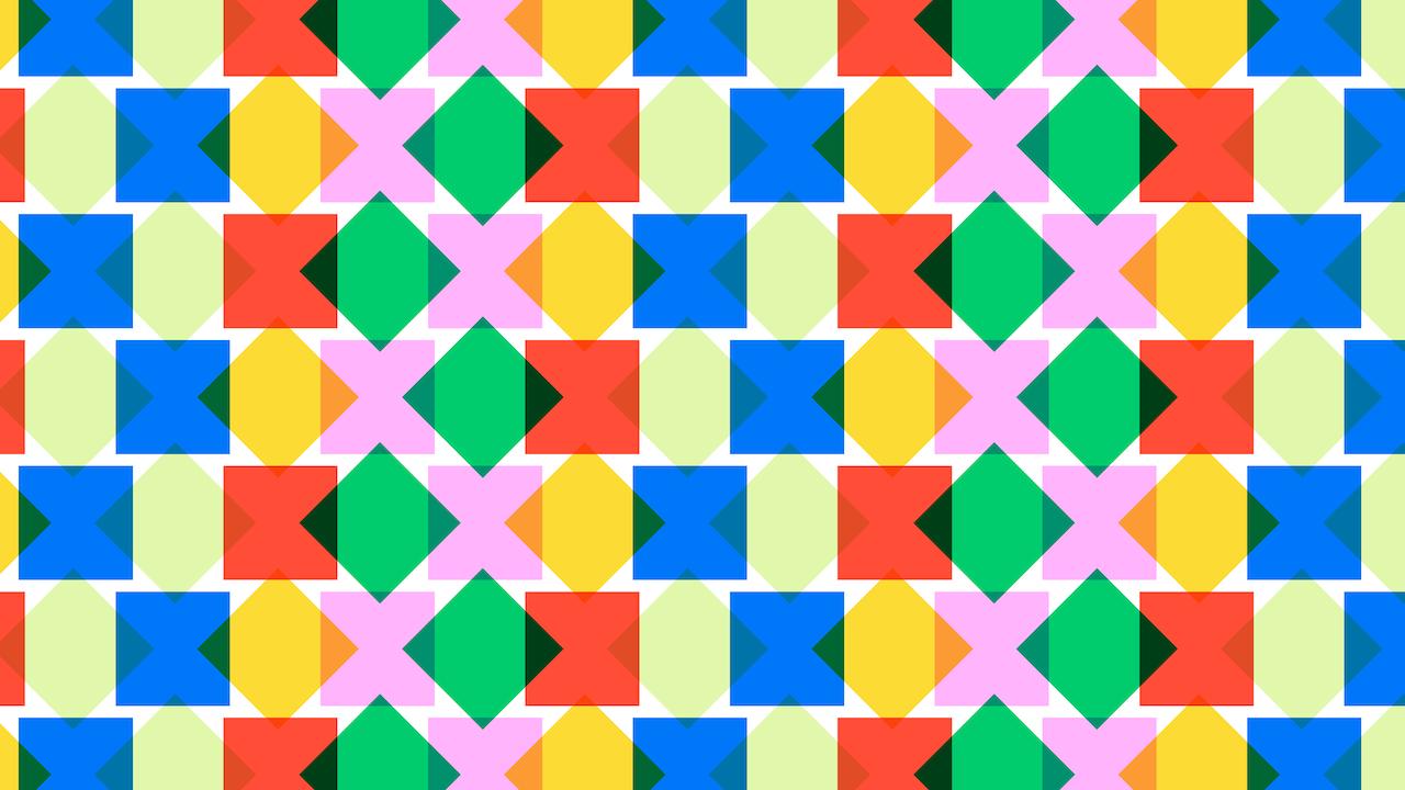 Encuentra los dos cuadrados con puntas redondas, ilustración