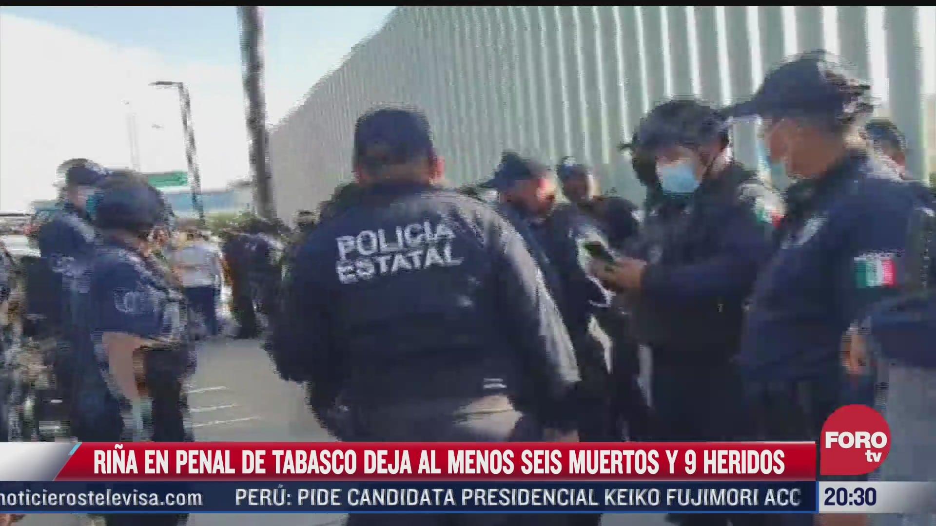 rina en penal de tabasco deja al menos 6 muertos