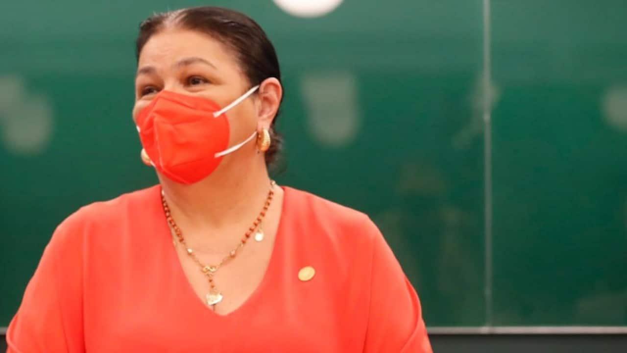 Dulce María Sauri, presidenta de la Cámara de Diputados (Twitter: @DulceSauri)