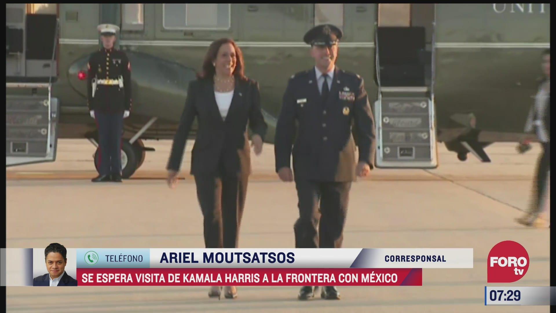 se espera visita de kamala harris a la frontera con mexico