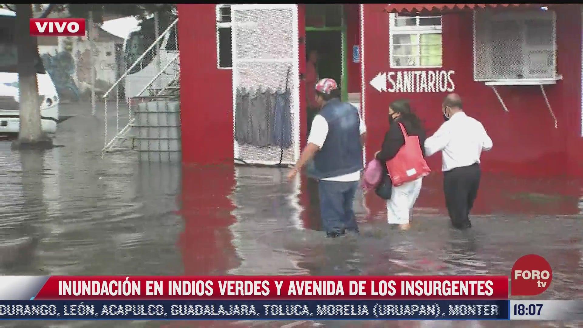 se inunda avenida de los insurgentes norte en cdmx