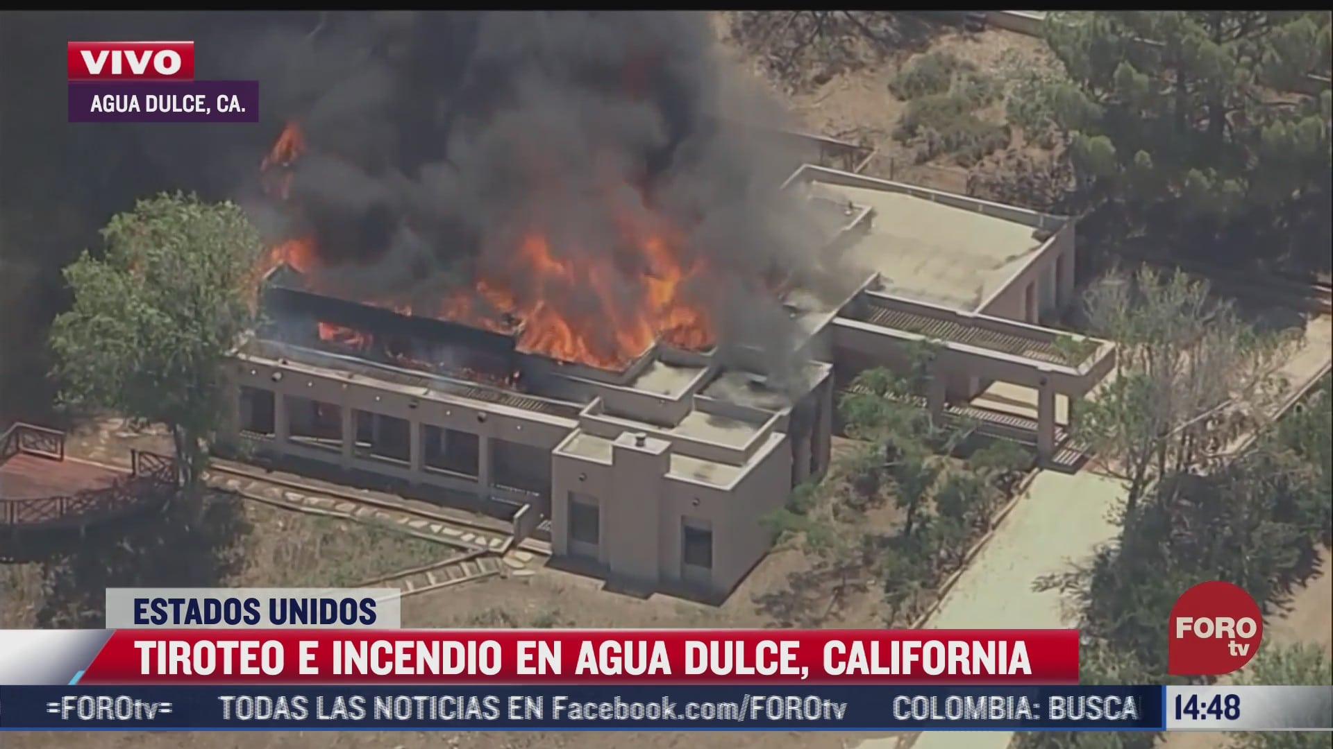 se registran incendio y tiroteo en california hay un bombero muerto